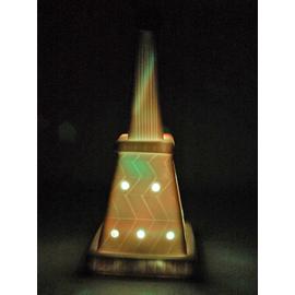 7色に光る信楽焼「信楽透器」タワー6号